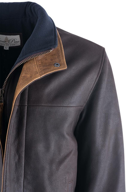 Lone Pine Romano Dark Brown Coat - Close-up