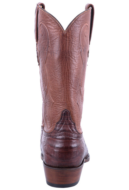 Lucchese Men's Barrel Brown Ultra Caiman Boots - Back