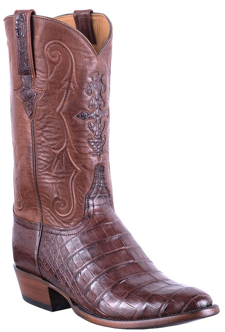 Lucchese Men's Barrel Brown Ultra Caiman Boots - Hero
