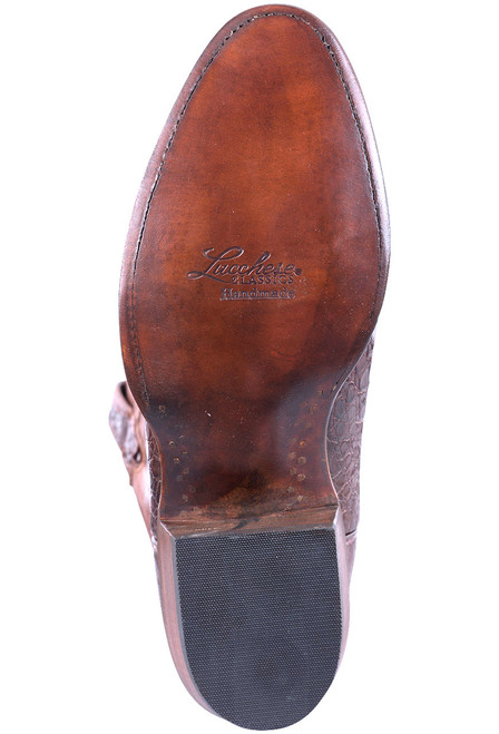 Lucchese Men's Barrel Brown Ultra Caiman Boots - Sole