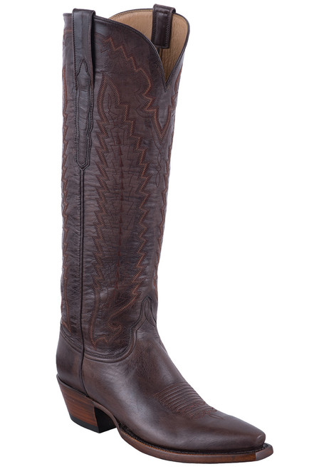 Lucchese Women's Brown Vero Goat Boots
