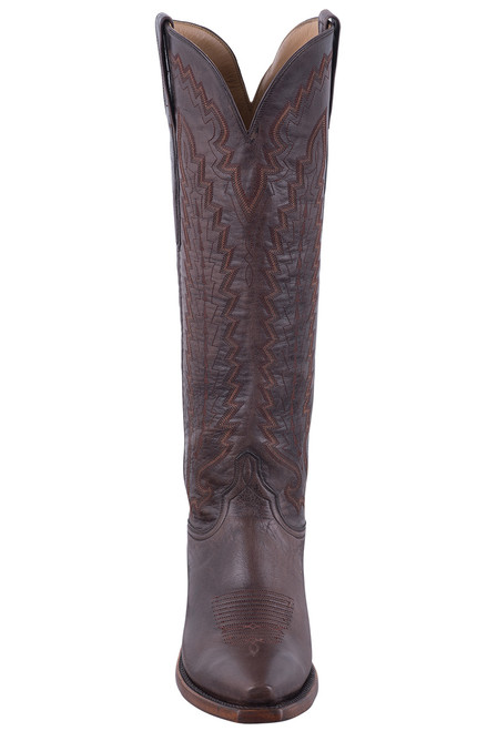 Lucchese Women's Brown Vero Goat Boots - Front