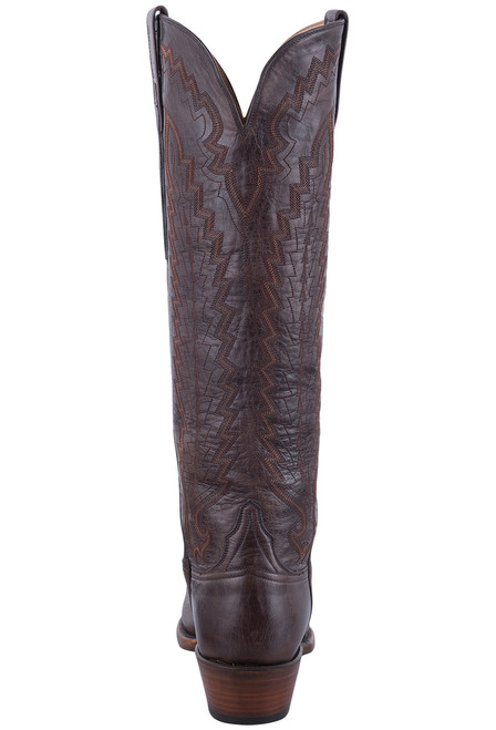 Lucchese Women's Brown Vero Goat Boots - Back