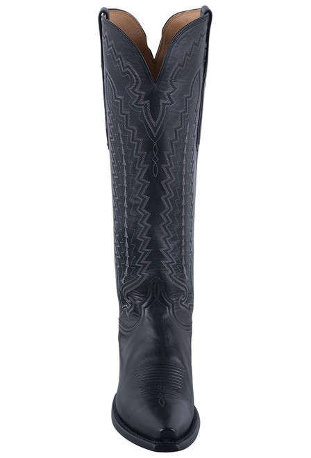 Lucchese Women's Black Vero Goat Boots - Front