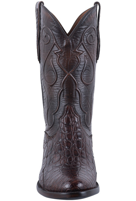 Black Jack Exclusive Chocolate Caiman Flank Boots - Front