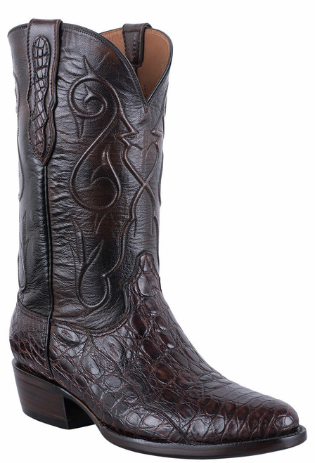 Black Jack Exclusive Chocolate Caiman Flank Boots