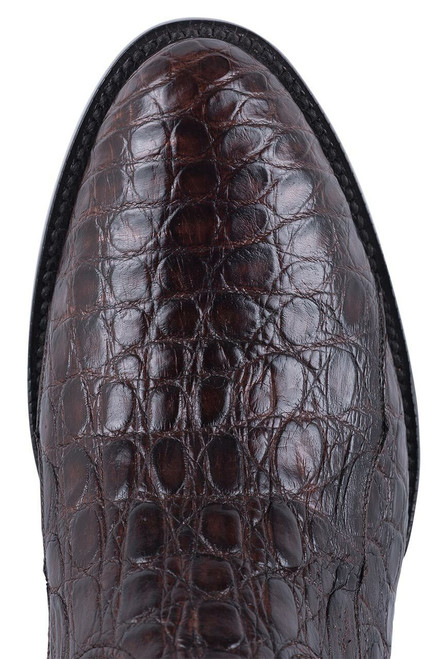 Black Jack Exclusive Chocolate Caiman Flank Boots - Toe
