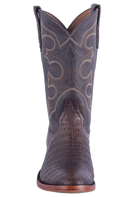 Rios of Mercedes Men's Brown Caiman Belly Boots - Front