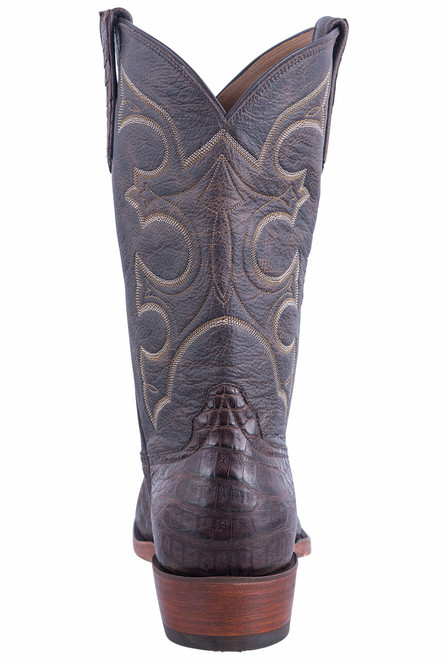 Rios of Mercedes Men's Brown Caiman Belly Boots - Back