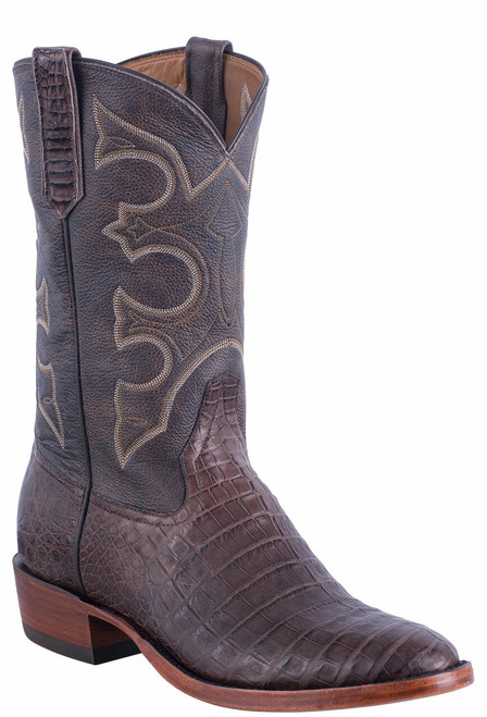 Rios of Mercedes Men's Brown Caiman Belly Boots - Angle