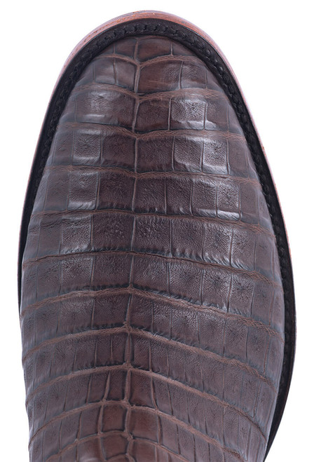 Rios of Mercedes Men's Brown Caiman Belly Boots - Toe