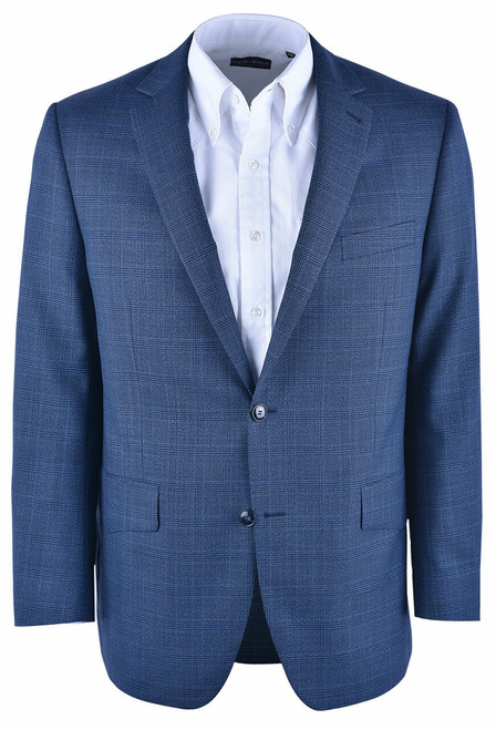 Pinto Ranch Blue Plaid Western Sport Coat - Front