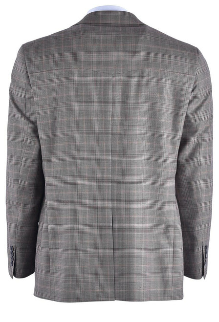 Pinto Ranch Tan and Brown Plaid Western Sport Coat - Back