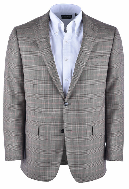 Pinto Ranch Tan and Brown Plaid Western Sport Coat - Front