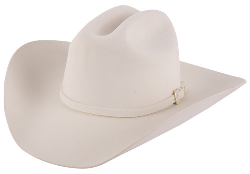 Stetson 3X Oakridge White Felt Hat - Side