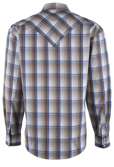 Stetson Brown Wheat Ombre Snap Shirt - Back