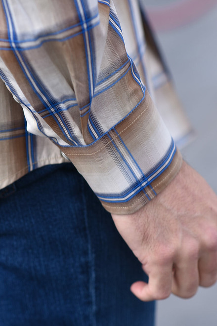 Stetson Brown Wheat Ombre Snap Shirt - Photoshoot 2