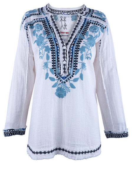 Johnny Was Vedera Gauze Blouse - Front