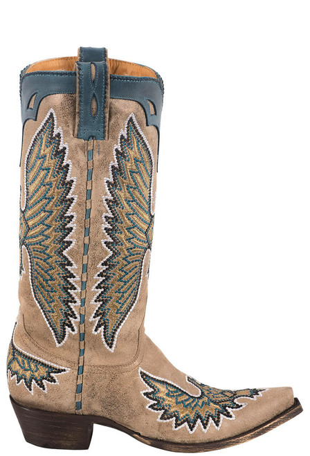 Old Gringo Women's Metallic Eagle Stitch Boots - Side