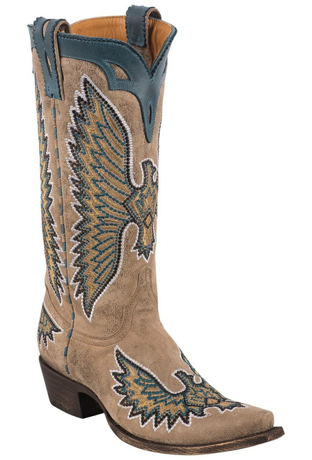 Old Gringo Women's Metallic Eagle Stitch Boots - Angle