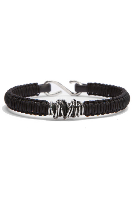 Kenton Michael Black Sterling Wrap Bracelet