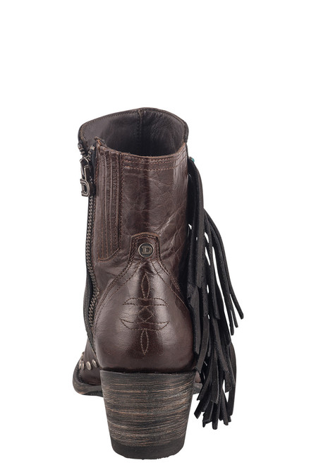 Double D Ranch by Old Gringo Brass Apache Kid Boots - Back