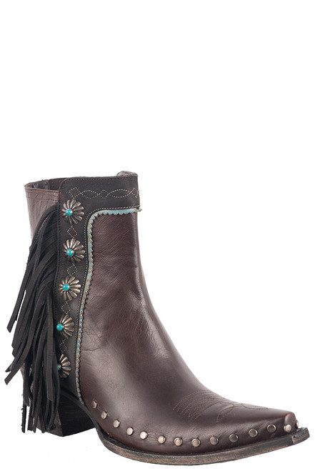 Double D Ranch by Old Gringo Brass Apache Kid Boots - Angle