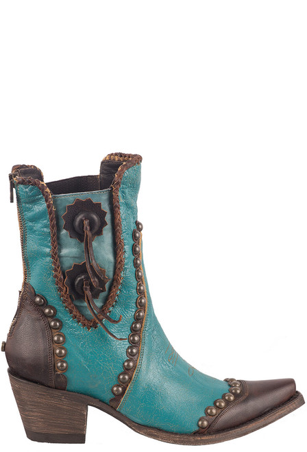 Double D Ranch by Old Gringo Turquoise Stockyards Boots - Side