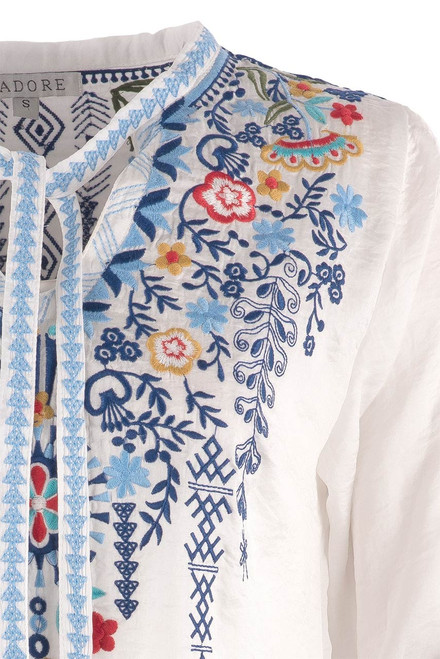 Adore Floral Embroidered Top - Close