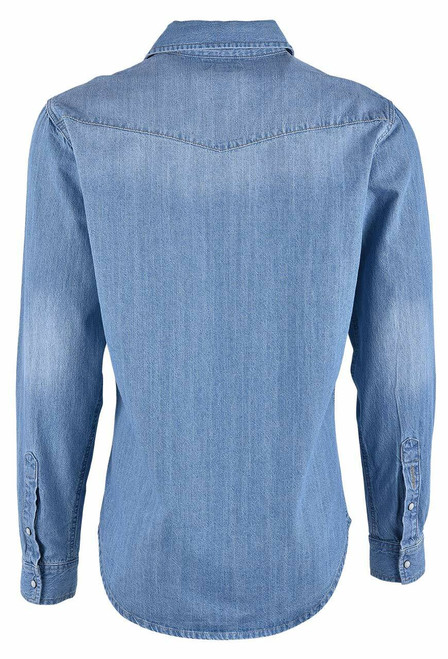 Stetson Light Blue Denim Shirt - Back