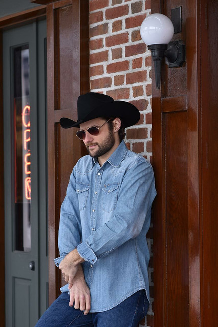 Stetson Light Blue Denim Shirt - Photoshoot 2