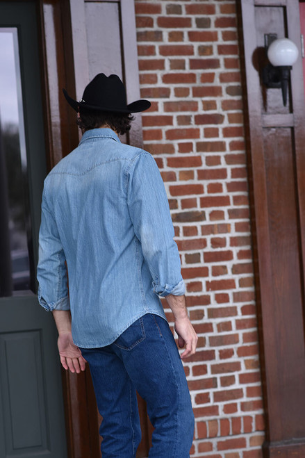 Stetson Light Blue Denim Shirt - Photoshoot 4