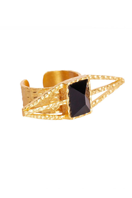 Christina Greene Itten Black Onyx Ring  - Side