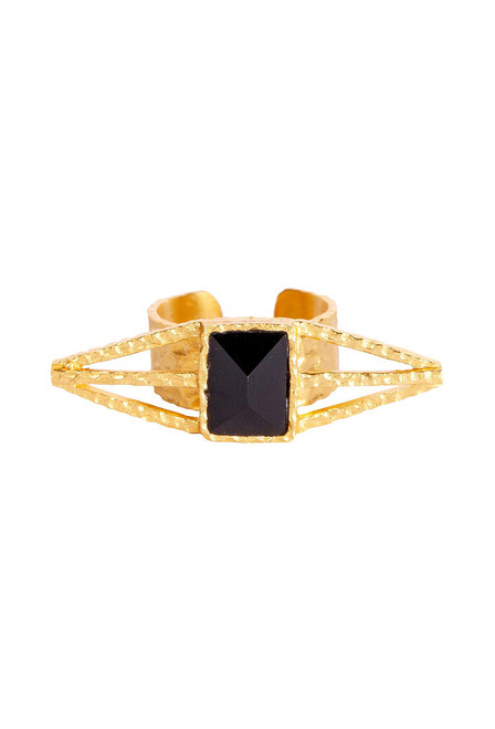 Christina Greene Itten Black Onyx Ring - Front