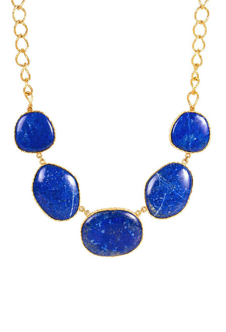 Christina Greene Statement Lapis Necklace