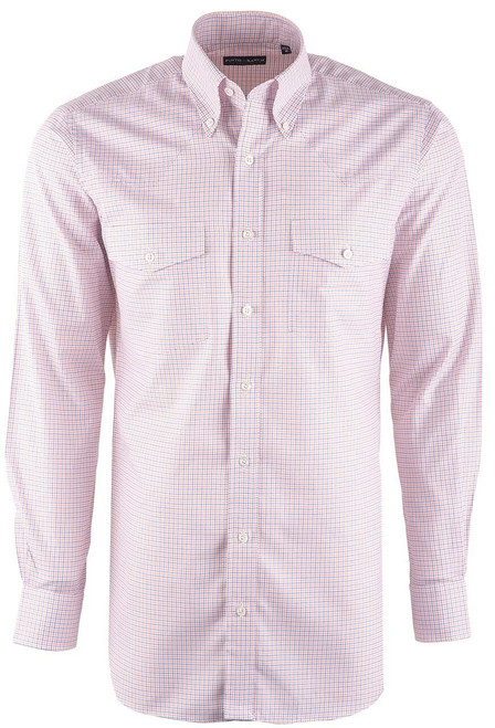 Pinto Ranch YY Collection Orange Check Twill Shirt - Front