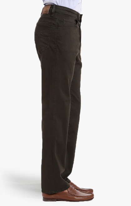 34 Heritage Men's Dark Green Twill Charisma Pants - Side