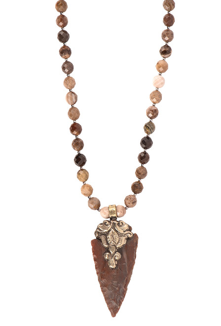 Breathe Deep Designs Jasper Arrowhead Necklace