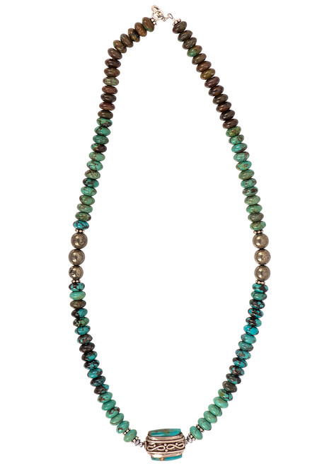 Breathe Deep Designs Turquoise Nugget Necklace - Front
