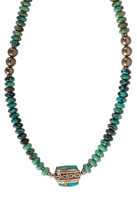 Breathe Deep Designs Turquoise Nugget Necklace