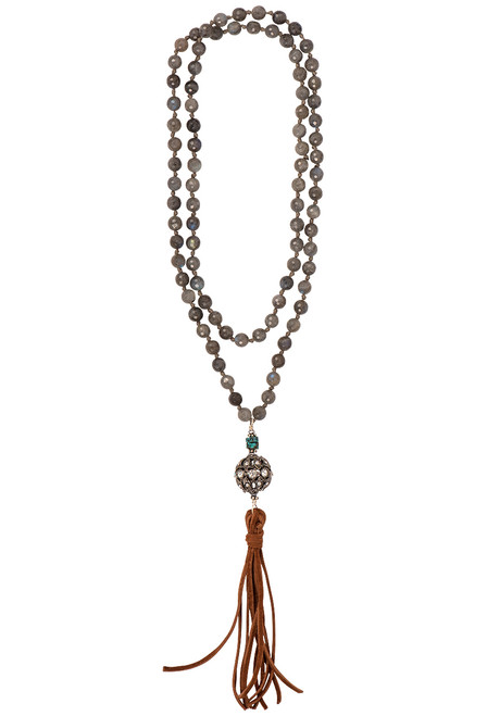 Breathe Deep Designs Labradorite Necklace & Earring Set - Necklace Front
