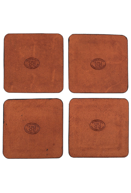 Pinto Ranch Stamped Leather Coaster Set - Back