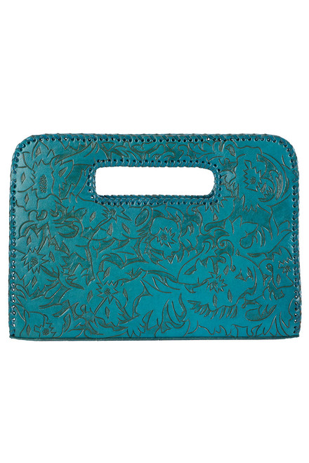 Hide and Chic Catalina Tooled Clutch - Front