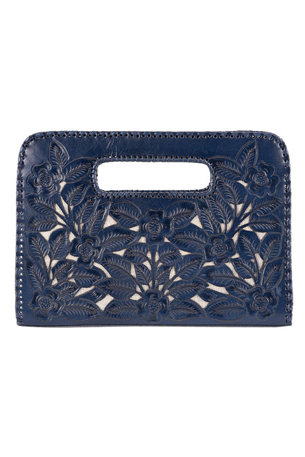 Hide and Chic Emila Tooled Clutch - Front
