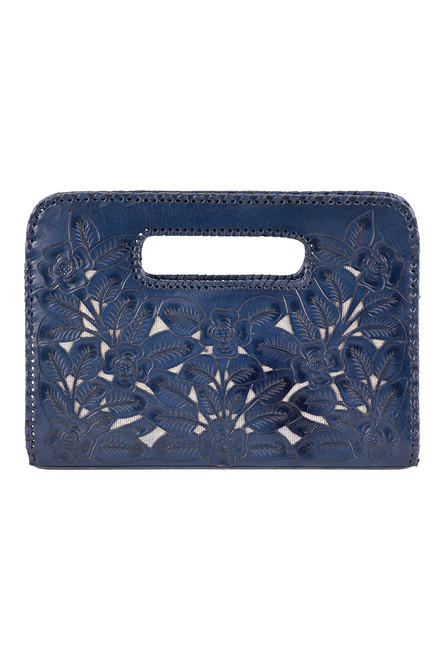 Hide and Chic Emila Tooled Clutch - Back