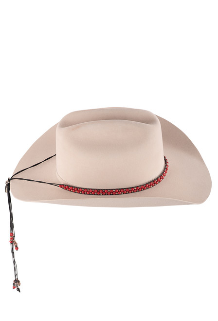 Wrapped to Wear Red Riverstone and Sterling Silver Hat Wrap - Hat