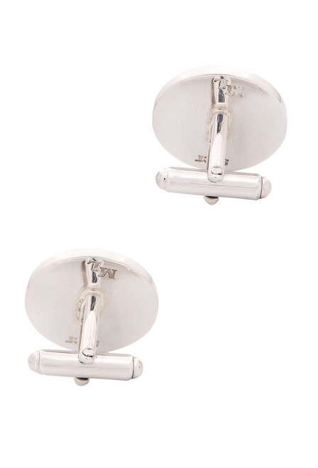 Pinto Ranch Sterling Silver Circle Initial Cufflinks