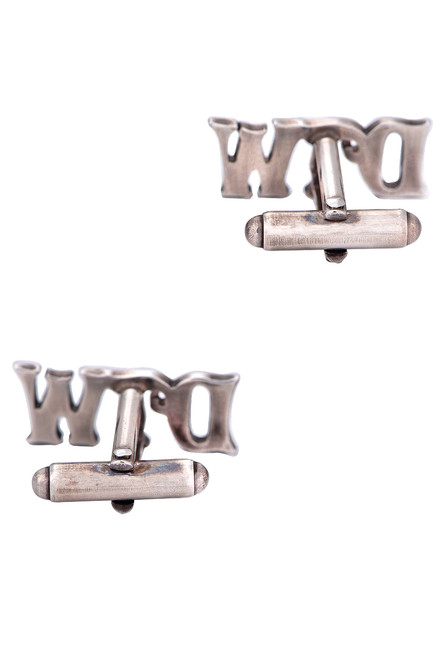 Pinto Ranch Sterling Silver Cutout Initial Cufflinks - Back