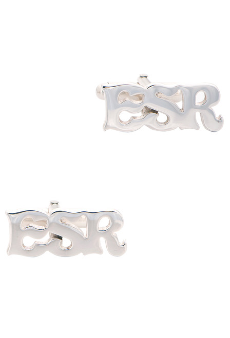 Pinto Ranch Sterling Silver Cutout Initial Cufflinks - Front 2