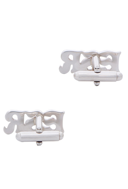 Pinto Ranch Sterling Silver Cutout Initial Cufflinks